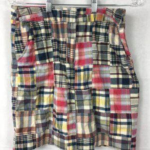 Cambridge Dry Goods Plaid Cotton Madras Skirt 6